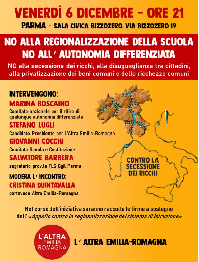 Autonomia differenziata Parma